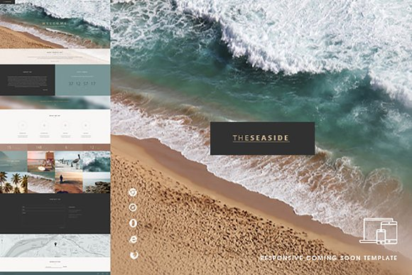 Seaside One Page Template HTML