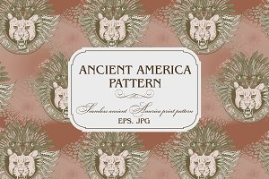 ANCIENT AMERICA. PATTERN