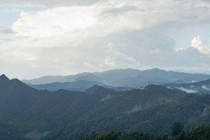 Panorama high mountains