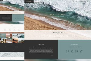 Seaside - One Page Template HTML