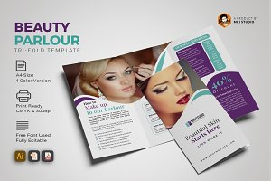 Creative Beauty Parlour Trifold