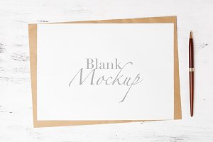 A4 stationery mockup - white card