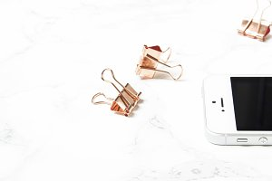 Feminine Office | Copper Binder Clip