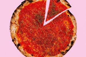 Food Porn. Pizza Lover Concept.  Fla