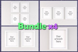 """Mockup general frames 8x10"""" BUNDLEx4"""
