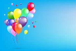 Flying Colorful Balloons Party