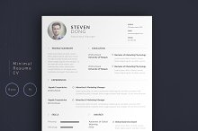 Minimal Resume CV | Simple Edition