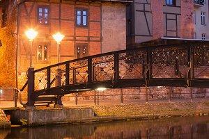 City of Bydgoszcz in Poland at Night
