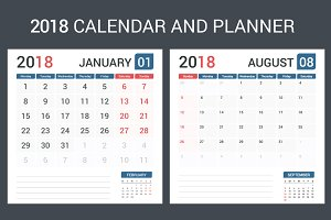 2018 Calendar and Planner