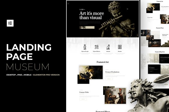Museum Elementor Pro Layout