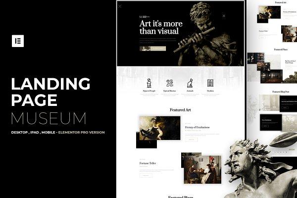 Museum - Elementor Pro Layout