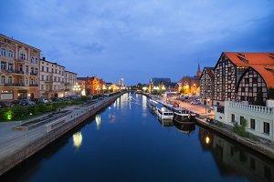 City of Bydgoszcz in Poland by Night