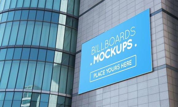 15 Billboards Mockup On Building V2