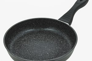 Round  frying pan  isolated on white background