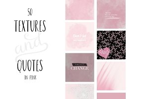 Paint and Pink Textures+quotes