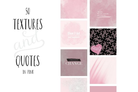 Paint And Pink Textures Quotes