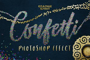 ✨ CONFETTI Effect for Photoshop