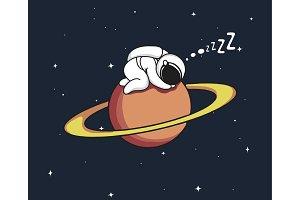 astronaut sleeps on Uranus