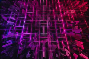 3d pink and purple cubes illustration background