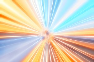 Light teleportation blast illustration background