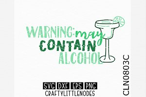 Warning May Contain Alcohol SVG