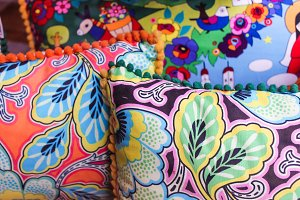 Vintage Colourful Cloths