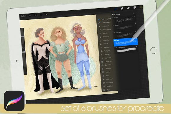 Procreate Brushes Dots everywhere in Photoshop Brushes - product preview 1