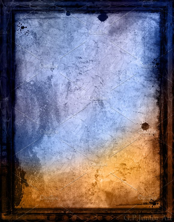 Grunge textured retro style frame in Textures