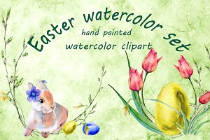 Easter watercolor set