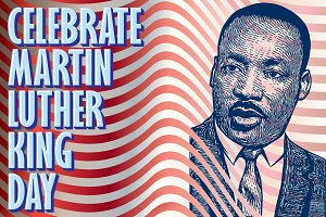 Martin Luther King Jr. Vector Art