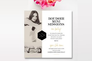 Boudoir 5x5 Mini Session Template
