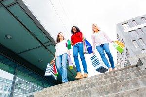 Young Women Shopping
