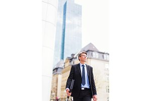 Businessman In Frankfurt main