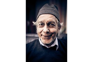 Funny Senior Man Making Faces