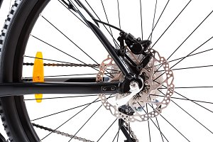 Mountain Bike Wheel Closeup
