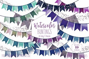 Birthday Party Bunting Clipart
