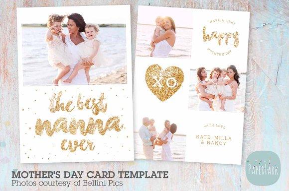 ad005 nanna mothers day card card templates creative market