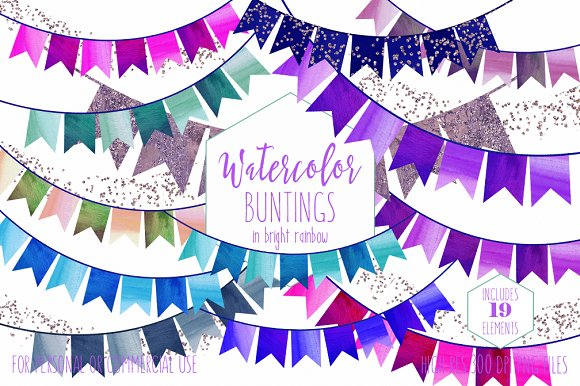 Rainbow Bunting Banner Clipart