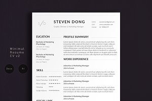 Minimal Resume CV 2 | Simple Edition