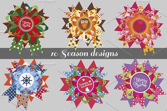 Season greetings. 10 designs - Illustrations