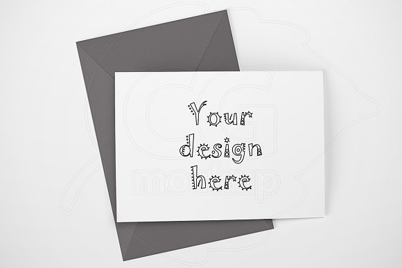 Landscape mockup greeting card A6