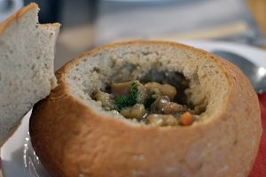 Soup in bread