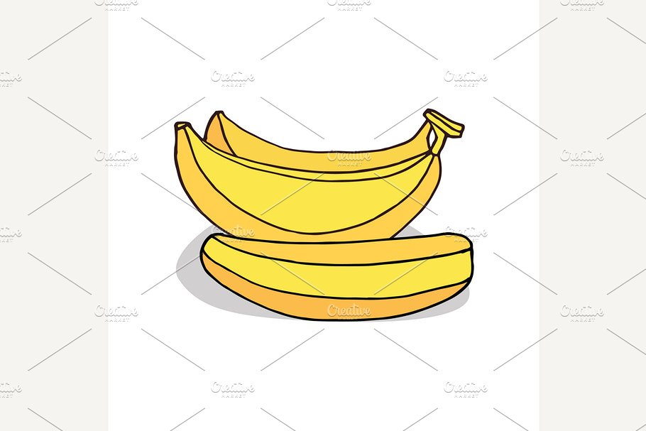 Isolate ripe banana fruit