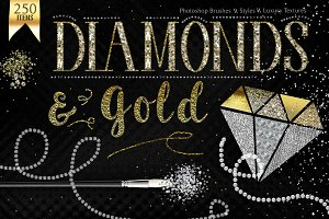 Diamond & Gold Photoshop Styles Kit