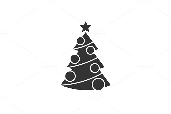 Christmas Tree With Decorations Icon