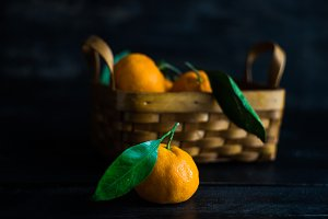 Organic tangerines fruits