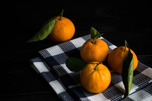 Organic tangerines fruits