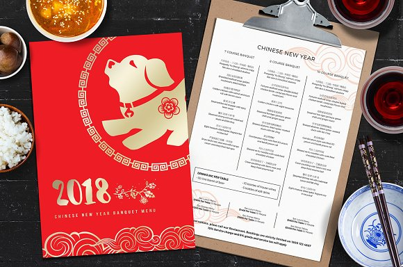 chinese menu template flyer templates creative market