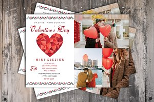 Valentine Day Mini Session Card