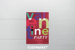 Valentine's Party Flyer Template